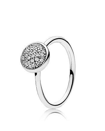 PANDORA - Ring - Sterling Silver & Cubic Zirconia Dazzling Droplet