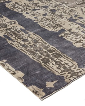 Lillian August - Electro Fusion Silk Area Rug Collection - Dark Gray