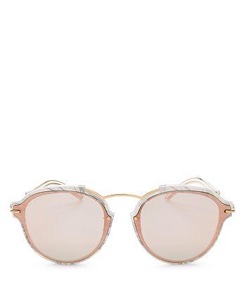 Dior - Women's Eclat Mirrored Round Sunglasses, 60mm