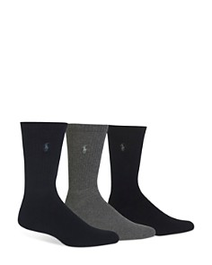 Polo Ralph Lauren Assorted Cushioned Crew Socks - Pack of 3 - Bloomingdale's_0