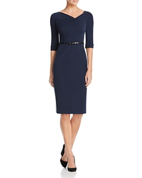 Black Halo - Jackie Belted Sheath Dress