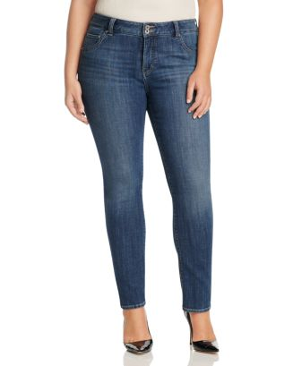 Emma Faded Straight Leg Jeans In Mystic Road by Lucky Brand Plus