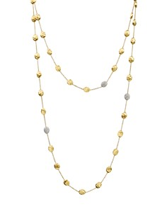 "Marco Bicego Siviglia 18K Yellow Gold Necklace with Diamond Stations, 49.5"" - Bloomingdale's_0"