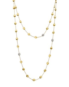 Marco Bicego - Siviglia 18K Yellow Gold Necklace with Diamond Stations, 49.5""