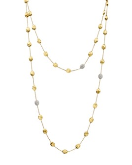 """Marco Bicego - Siviglia 18K Yellow Gold Necklace with Diamond Stations, 49.5"""""""