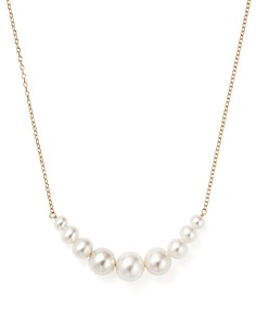 "Bloomingdale's - 14K Yellow Gold Cultured Freshwater Pearl Necklace, 18"" - 100% Exclusive"