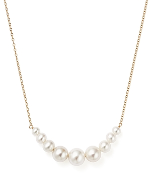 14K Yellow Gold Cultured Freshwater Pearl Necklace, 18