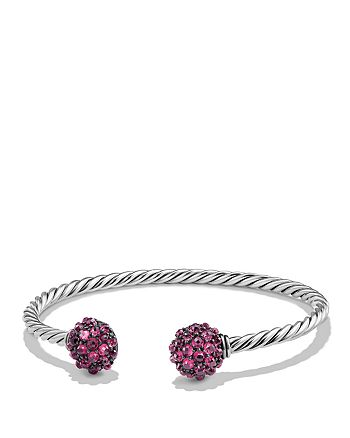 David Yurman - Osetra End Station Bracelet with Rhodalite Garnet