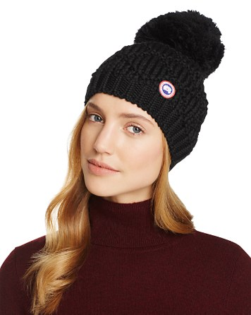 $Canada Goose Merino Wool Beanie with Oversized Pom-Pom - Bloomingdale's