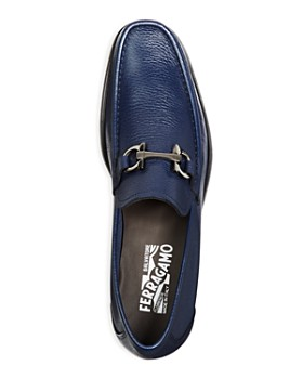 Salvatore Ferragamo - Men's Grandioso Calfskin Leather Loafers with Double Gancini Bit - 100% Exclusive