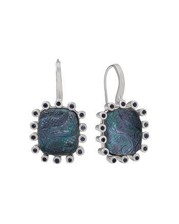 Stephen Dweck - Etched Flower Drop Earrings