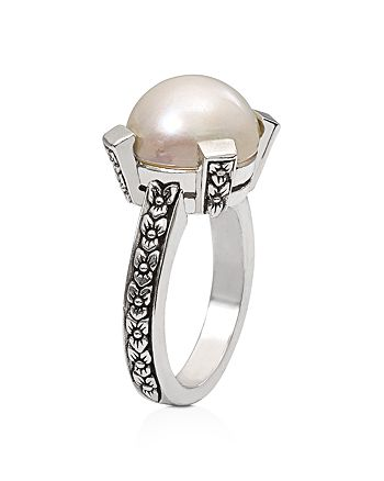 Stephen Dweck - White Mabe Cultured Freshwater Pearl Ring