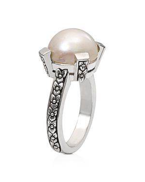 Stephen Dweck White Mabe Cultured Freshwater Pearl Ring