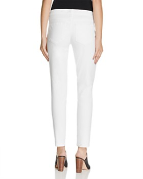 a1b201223323a ... PAIGE - Skyline Skinny Ankle Maternity Jeans in Optic White