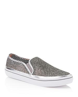 kate spade new york Sallie Glitter Mesh Slip-On Sneakers