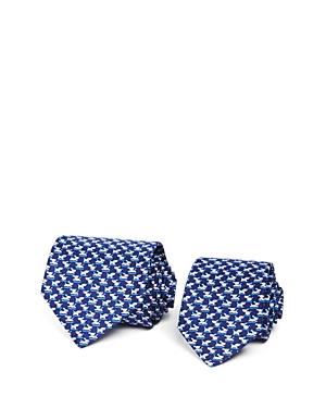 Salvatore Ferragamo Father/Son Puppies Neat Classic Tie Gift Box Set