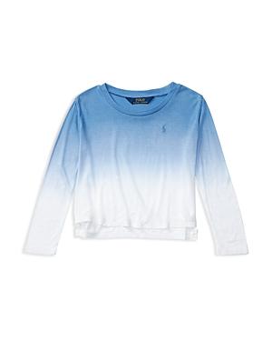Ralph Lauren Childrenswear Girls Lux Jersey DipDye Tee Sizes 26X