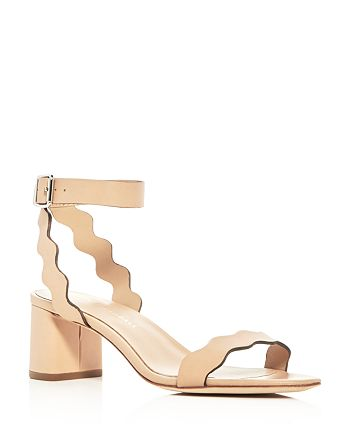 c9536ca3d98c Loeffler Randall Women s Emi Scalloped Leather Block Heel Sandals ...