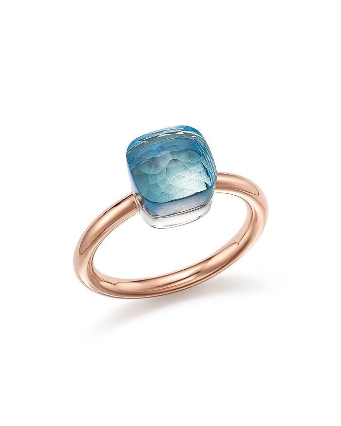 Pomellato Small London Blue Topaz Ritratto Ring | Betteridge