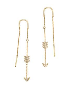 Bloomingdale's - 14K Yellow Gold Diamond Micro Pavé Drop Chain Earrings
