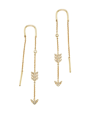 Kc Designs 14K Yellow Gold Diamond Micro Pave Drop Chain Earrings