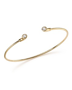 KC Designs - 14K Yellow Gold Diamond Bezel Set Cuff