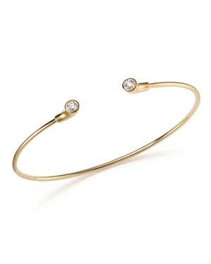 Kc Designs 14K Yellow Gold Diamond Bezel Set Cuff