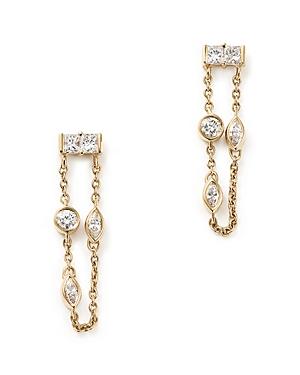 Diamond Chain Drop Earrings in 14K Yellow Gold, .45 ct. t.w. - 100% Exclusive
