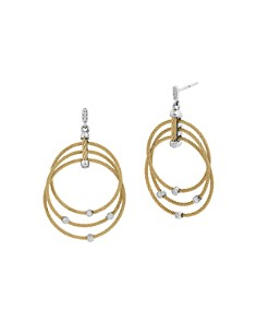 ALOR - Yellow Cable Drop Earrings