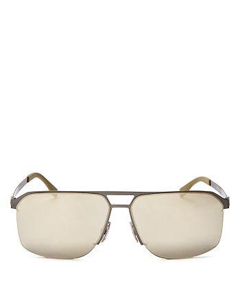 HUGO - Men's Mirrored Square Top Bar Sunglasses, 52mm