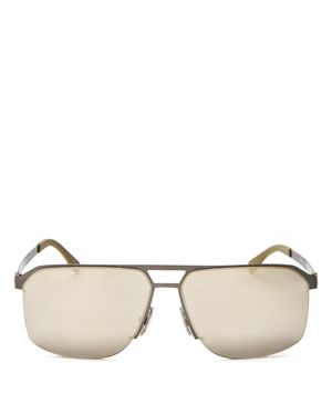Hugo Boss Mirrored Square Top Bar Sunglasses, 52mm