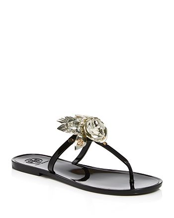 5e40a2271f94 Tory Burch - Women s Blossom Jelly Thong Sandals