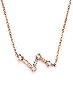 "Dana Rebecca Designs - 14K Rose Gold Jemma Morgan Zigzag Necklace, 18"""