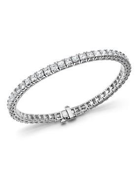 Bloomingdale's - Princess-Cut Diamond Tennis Bracelet in 14K White Gold, 10.20 ct. t.w.- 100% Exclusive