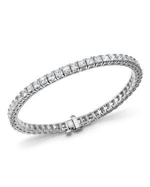 Princess-Cut Diamond Tennis Bracelet in 14K White Gold, 10.20 ct. t.w. - 100% Exclusive