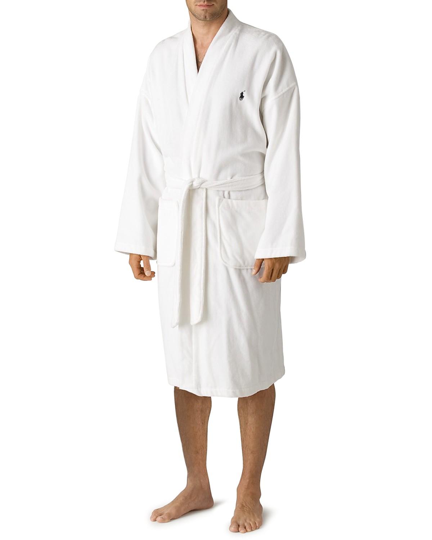 Polo Ralph Lauren Men\'s Kimono Cotton Velour Robe | Bloomingdale\'s