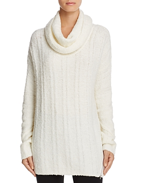 Love Scarlett Cowl Neck Ribbed Tunic Sweater - 100% Exclusive