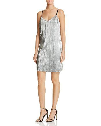 AQUA - Pleated Slip Dress - 100% Exclusive