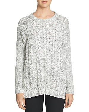 1.state Drop Shoulder Cable Front Sweater