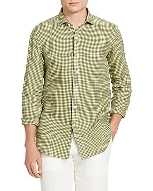 Polo Ralph Lauren Checked Linen Standard Fit Button-Down Shirt