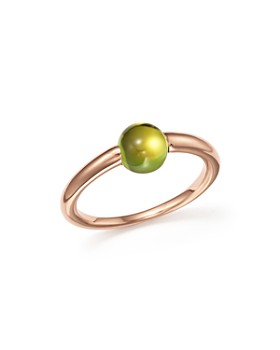 Pomellato - M'Ama Non M'Ama Ring with Peridot in 18K Rose Gold