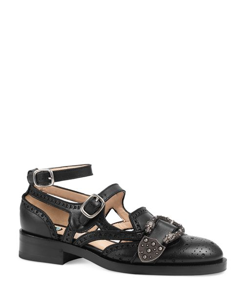 Gucci - Women's Queercore Ankle Strap Flats