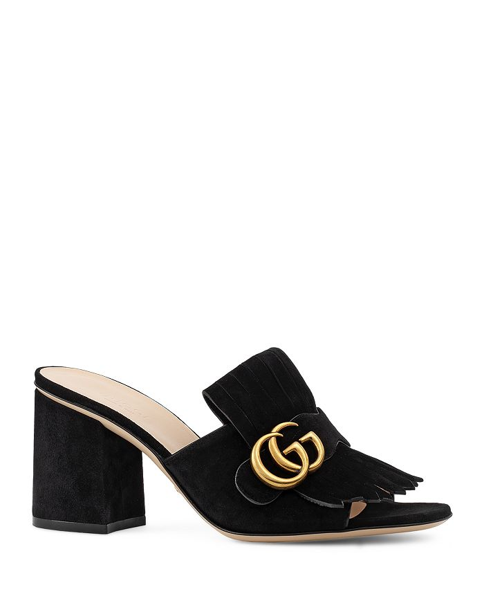 bac9f4685 Gucci Women's Marmont Mid Heel Slide Sandals | Bloomingdale's