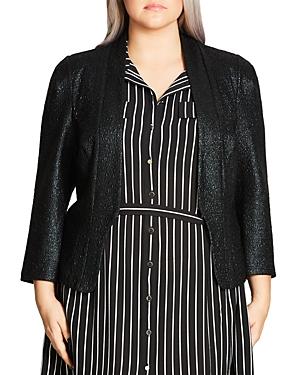 City Chic Shimmer Jacket