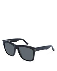 Saint Laurent Men's Oversized Rectangular Sunglasses, 55mm - Bloomingdale's_0
