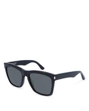 Saint Laurent Men's Oversized Rectangular Sunglasses, 55mm