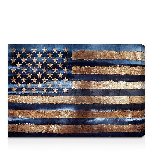 "Oliver Gal - Rocky Navy Freedom Wall Art, 24"" x 16"""