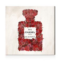 Oliver Gal - Number 5 Red Rose Wall Art
