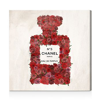"""Oliver Gal - Number 5 Red Rose Wall Art, 16"""" x 16"""""""
