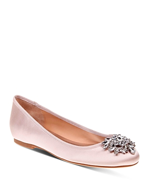 Badgley Mischka Bianca Jeweled Ballet Flats